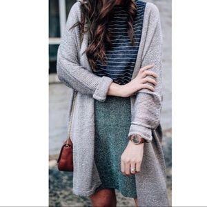Loft Tweed Fit & Flare Skirt